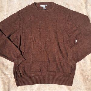 Men's XXL Burnt Orange Crew Neck Sweater